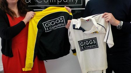 The Eaton Socon CC junior section has been sponsored by Giggs & Co. Pictured are Natalie Brookman an