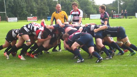 Action from Harpenden's win over Old Haberdashers.