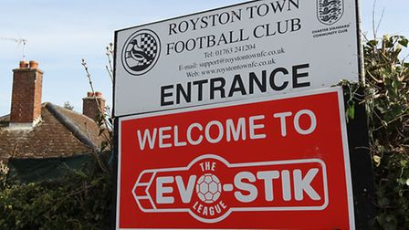 The entrance to Royston Town FC