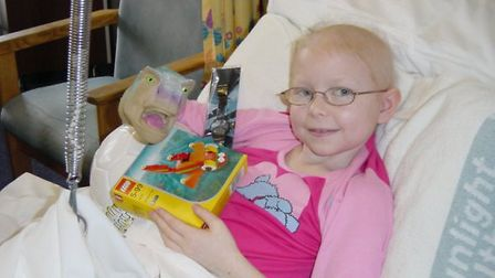 Molly was ten when she was diagnosed with bone cancer