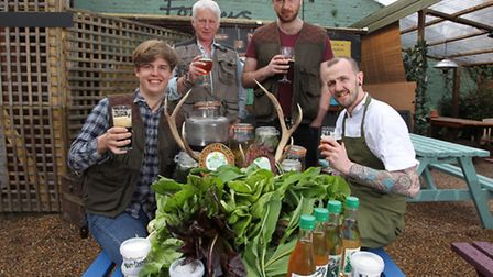 The Foragers team at the Verulam Arms (L-R) business partner Richard Osmond, co-founders Gerald Wald