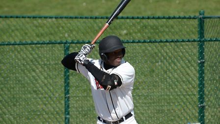 Maikel Azcuy blasted a two-run home run against South London Pirates. Picture: Paul Holdrick