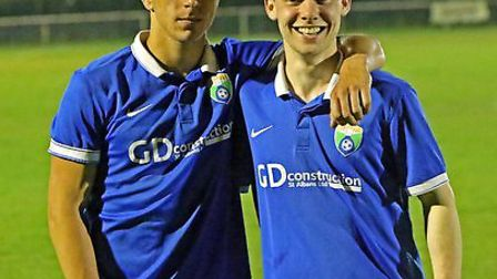 Stef Geraldes and James Ewington scored for London Colney in Tuesday's 2-2 draw with SSML Premier Di