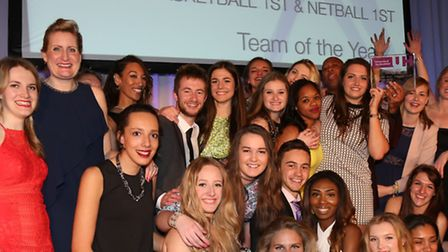 Womens basketball and netball teams were winners of the Team of the Year Award