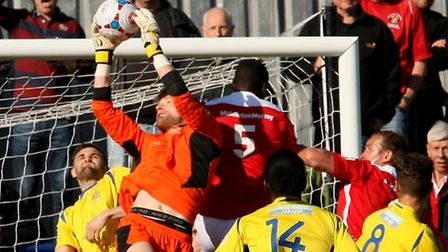 Joe Welch kept a clean sheet on the day that he took both the Supporters' and players' player of the