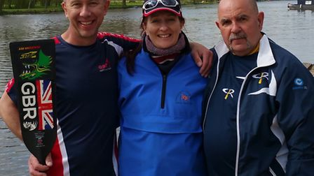 Gerard Baker of St Neots Dragon Boat Team (left) has been called into the Great Britain Senior squad