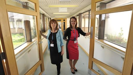 At the Woodlands Centre, are (l-r) Breast Care Nurse Consultant Lorraine Walker, and Specialist Brea