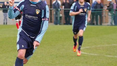 Lee Clarke scored and earned a penalty for St Neots Town. Picture by CLAIRE HOWES.