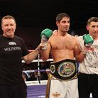 Steve Collins with his fighter Frank Buglioni