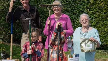 South Cambridgeshire District Council ecology officer Rob Mungovan, Liz Williams and Yvonne Chamberl