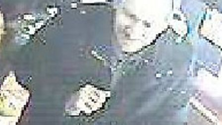 Police wish to speak to this man in connection with a theft from a Costa Coffee in Cambridge.