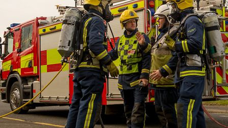 Firefighters were called to a fire on Harpenden Common
