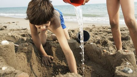 A beach where you can build real sandcastles will be one of the attractions of the family fun run ev