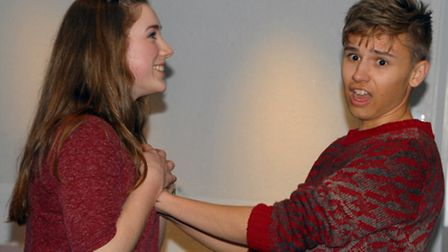 Rehearsal pic from Crazy for You