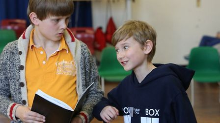 Scenes from Oliver! rehearsals