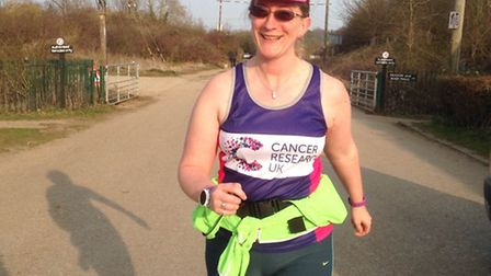 Louise Turner, who is running the London Marathon in aid of Cancer Research UK.