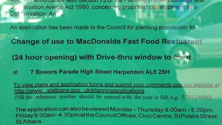 Fake April Fools Day McDonalds planning application in Harpenden