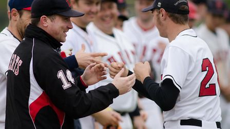 Herts Falcons line up. Picture: Richard Lee Photography