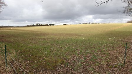 Green Belt land in Harpenden along Luton Road, earmarked for possible urban expansion in St Albans d