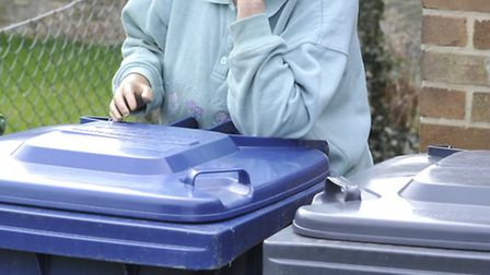 Dustbins being thrown about Coldhams South, Joan Reeves, at her home, in Huntingdon.