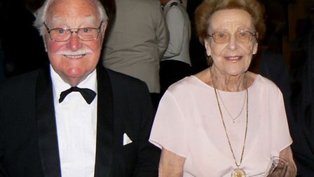 Arthur and Yvonne Hall pictured five years ago on a cruise of the Med to mark their 70th anniversary