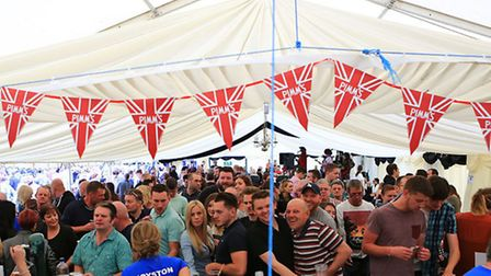 Revellers in the beer tent. Picture: by Kevin Richards.