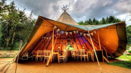 The exterior of the tipi