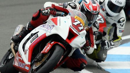 Jon Railton in action in the latest round of the National Superstock 1000 Championship at Donington