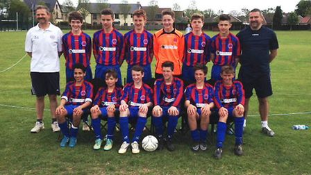 The Brampton Spartans team are back row, left to right, Andy March, Jack Buchan, Lewis Meakin, James