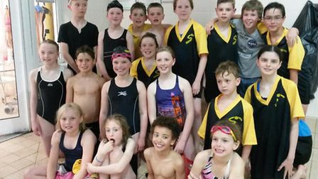 The First Strokes Godmanchester team which competed in the final round of the City of Peterborough M