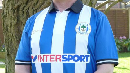 Wigan Athletic FC fan Malcolm Lee, of Bluntisham, who will be singing in front of 90,000 people at t