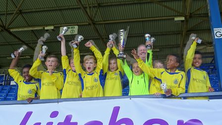 St Albans City Youth U9 with the Hatters Cup
