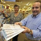 Just Cards, of St Ives, are nominated for an industry award, owners (l-r) Maureen O'Connell, and Tom