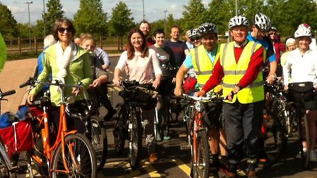 Setting off from Trumpington Park and Ride.