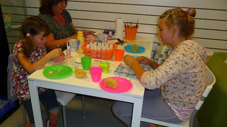 Artistic endeavours underway at Crafty Monkey in St Neots.