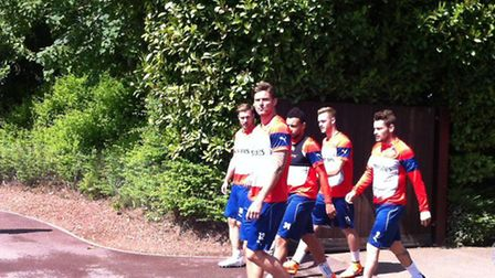 Arsenal trains in London Colney ahead of FA Cup Final