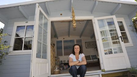Chrissy Brown, from Eaton Ford, who is a finalist in shed of the year competition
