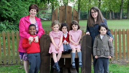Killigrew Nursery and Primary School in Chiswell Green, St Albans, has a new outdoor learning area..