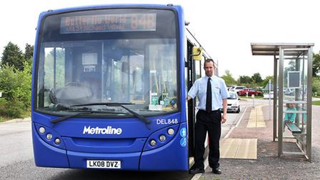 Metroline bus driver Adam Riches with the 84b tourist service to Butterfly World