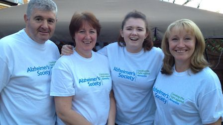 From left to right husband Andy, Jane, daughter Lauren and sister Dawn.