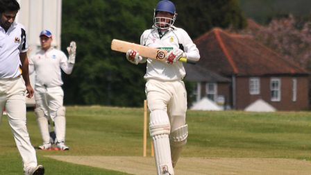 Dave Irwin scored 118 for Redbourn against Chipperfield Clarendon.