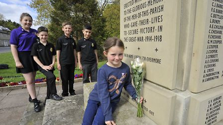 Children from Crosshall Junior School, who have been supporting the Royal British Legion by selling
