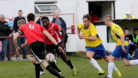Sam Corcoran in action against Hayes & Yeading. Picture: Leigh Page