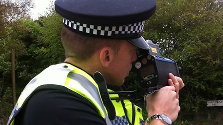 Regular speed checks are carried out around rural Hertfordshire.