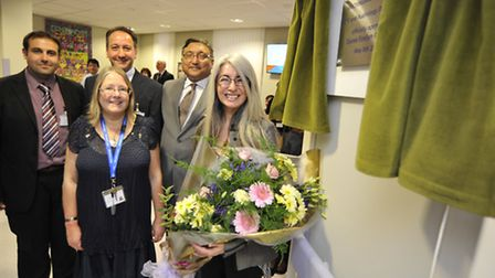 The official opening of ENT and Audiology department, at Hinchingbrooke Hospital, by (right) Dame Ev