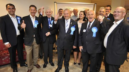 Huntingdonshire District & Town Elections, victorious Conservatives.
