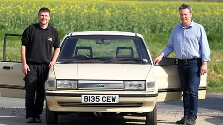 Ian Scripps and Nick Scott are taking part in the trip in their Austin Maestro