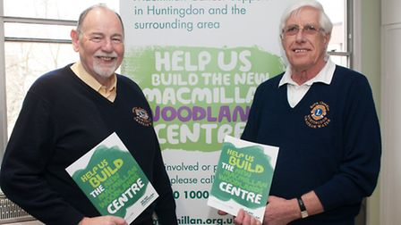 Lions Bernard Dable (left) and Keith Chandler pictured at the launch of the appeal.