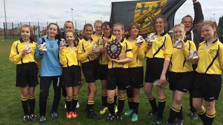 Priory Parkside Under 14 Girls won the Cambs League North Division title.