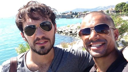 Winston Davis from London Colney in season five's Game of Thrones with co-star Tom Fava